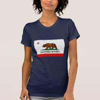Bandera del estado de California del vintage Playera