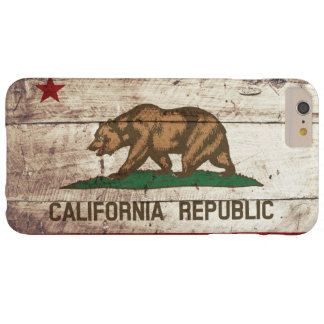 Bandera del estado de California en grano de Funda De iPhone 6 Plus Barely There