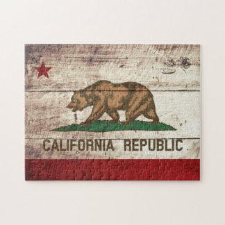 Bandera del estado de California en grano de Puzzle
