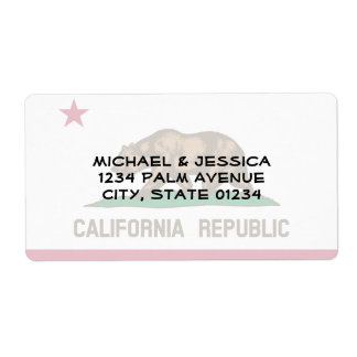 Bandera del estado de California Etiqueta De Envío