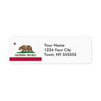 Bandera del estado de California Etiqueta De Remitente
