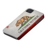 Bandera del estado de California Case-Mate iPhone 4 Fundas