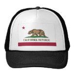 Bandera del estado de California Gorras