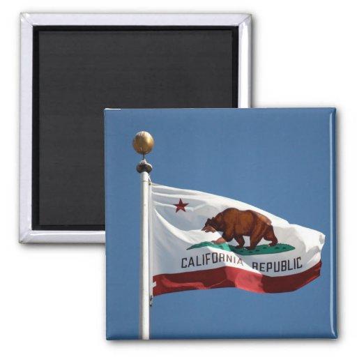 Bandera del estado de California Imán De Frigorífico