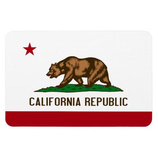 Bandera del estado de California Iman Rectangular