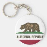 Bandera del estado de California Llavero Personalizado