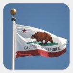 Bandera del estado de California Calcomania Cuadradas