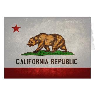 Bandera del estado de California Tarjeta Pequeña