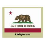 Bandera del estado de California Tarjetas Postales