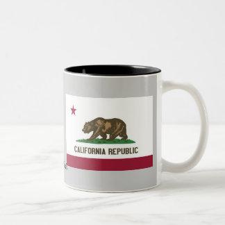 Bandera del estado de California Taza De Café De Dos Colores