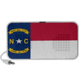 Bandera del estado de Carolina del Norte Laptop Altavoces