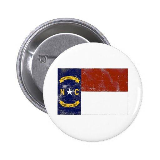Bandera del estado de Carolina del Norte (apenada) Pin