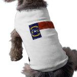 Bandera del estado de Carolina del Norte (apenada) Camisa De Perro