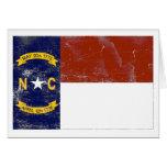 Bandera del estado de Carolina del Norte (apenada) Tarjetas