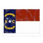 Bandera del estado de Carolina del Norte (apenada) Tarjeta Postal