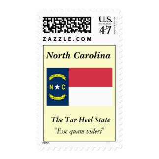 Bandera del estado de Carolina del Norte Estampillas