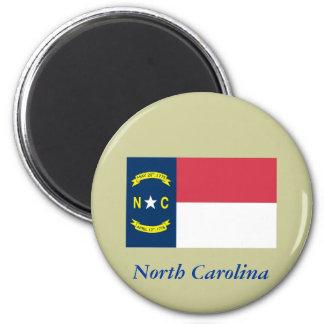 Bandera del estado de Carolina del Norte Imán De Frigorifico