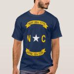 Bandera del estado de Carolina del Norte Playera