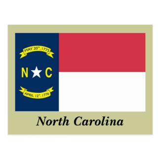 Bandera del estado de Carolina del Norte Postal