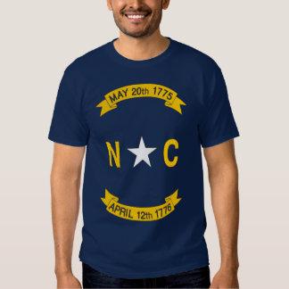 Bandera del estado de Carolina del Norte Remeras