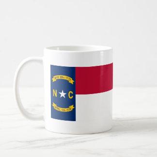 Bandera del estado de Carolina del Norte Taza Clásica