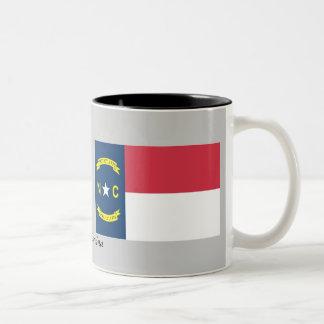 Bandera del estado de Carolina del Norte Taza De Dos Tonos