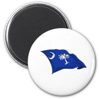 Bandera del estado de Carolina del Sur Imán Para Frigorífico
