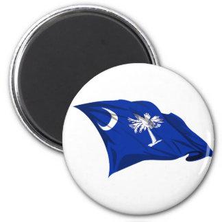 Bandera del estado de Carolina del Sur Imanes Para Frigoríficos