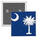 Bandera del estado de Carolina del Sur Pin Cuadrada 5 Cm