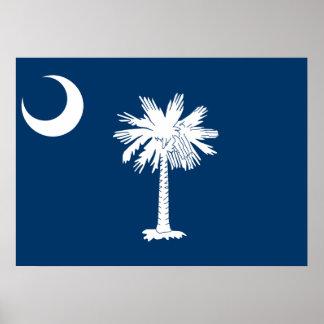 Bandera del estado de Carolina del Sur Póster