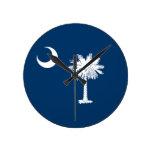 Bandera del estado de Carolina del Sur Relojes De Pared