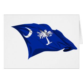 Bandera del estado de Carolina del Sur Felicitación