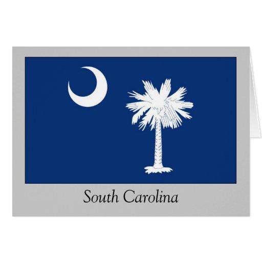 Bandera del estado de Carolina del Sur Tarjeta De Felicitación