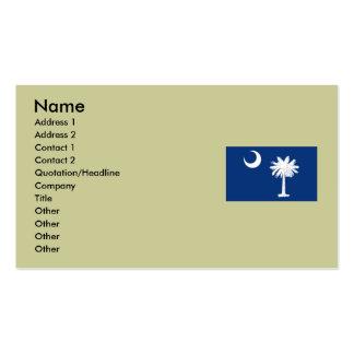 Bandera del estado de Carolina del Sur Tarjeta De Visita