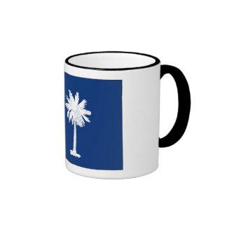 Bandera del estado de Carolina del Sur Tazas De Café