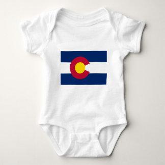 Bandera del estado de Colorado Body Para Bebé
