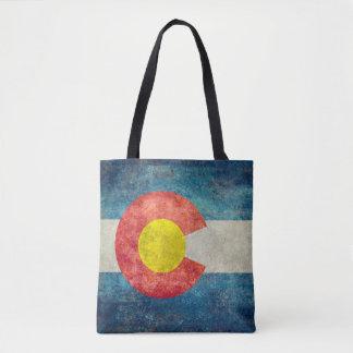 Bandera del estado de Colorado con mirada sucia