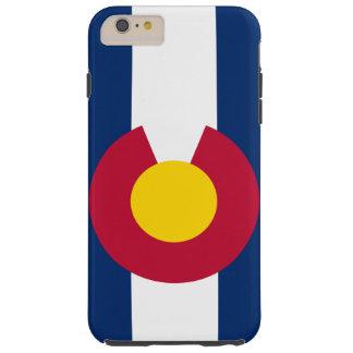 Bandera del estado de Colorado Funda De iPhone 6 Plus Tough