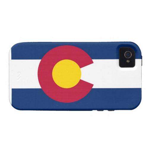 Bandera del estado de Colorado Vibe iPhone 4 Fundas