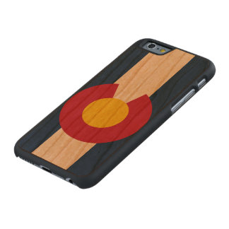 Bandera del estado de Colorado Funda De iPhone 6 Carved® Slim De Cerezo