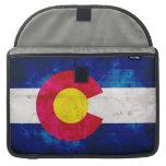 Bandera del estado de Colorado Fundas Para Macbooks