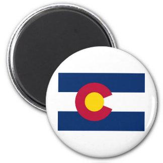 Bandera del estado de Colorado Imán Redondo 5 Cm