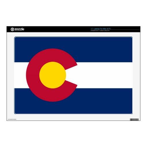 Bandera del estado de Colorado Skins Para 43,2cm Portátil