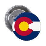 Bandera del estado de Colorado Pin Redondo 5 Cm