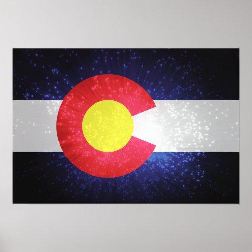Bandera del estado de Colorado Póster