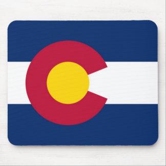 Bandera del estado de Colorado Mousepads