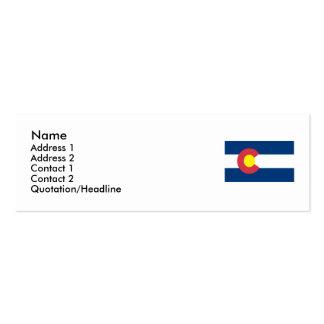 Bandera del estado de Colorado Tarjetas De Visita Mini