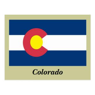 Bandera del estado de Colorado Tarjeta Postal