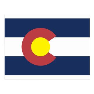 Bandera del estado de Colorado Postales