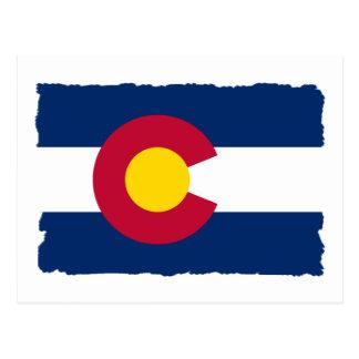 Bandera del estado de Colorado Tarjetas Postales